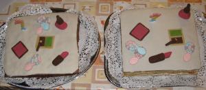 csajos torta1 Cukormáz, fontant