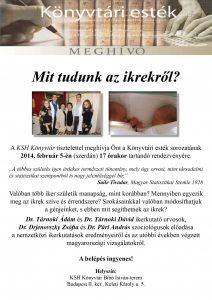könyvtári esték- ikrek Dr. Tárnoki Dávid és Dr. Tárnoki Ádám ikerkutatók