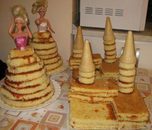 barbie, torony torta alap