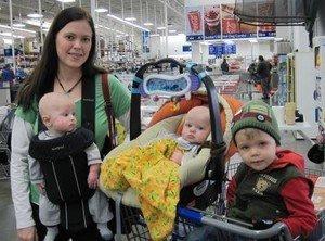 bevásárlás több gyerekkel